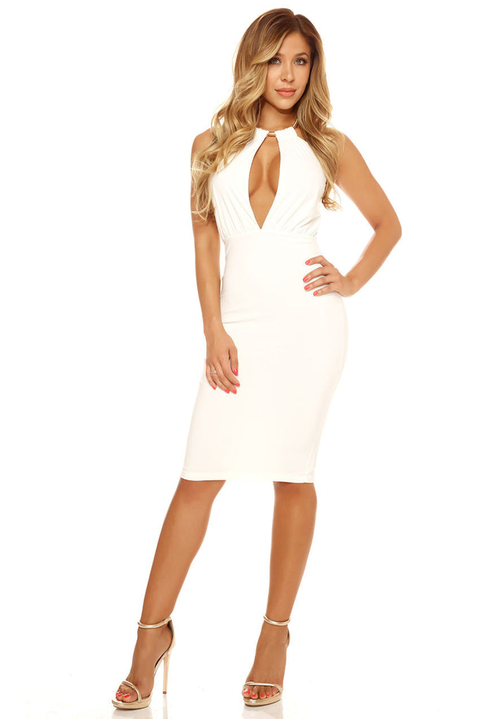 Farrah Keyhole Dress ellestyles