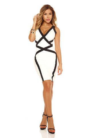 Halter Dress w Strap Neckline
