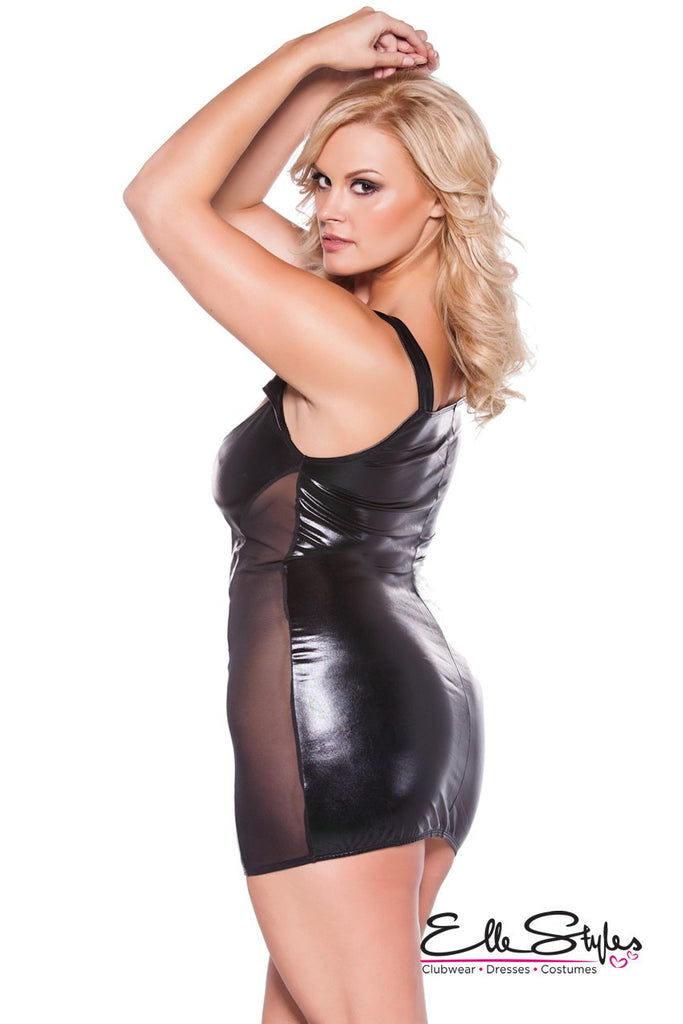 Kitten Cut Out Dress Black ElleStyles
