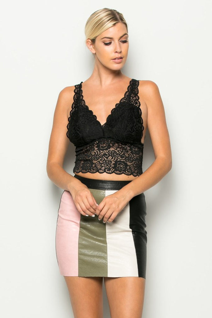 Scalloped Lace Crop Top ElleStyles