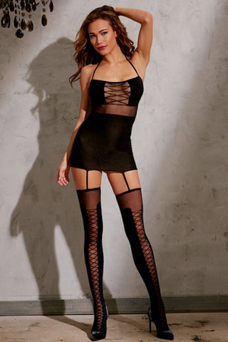 Seamless Side Slash Mini Dress