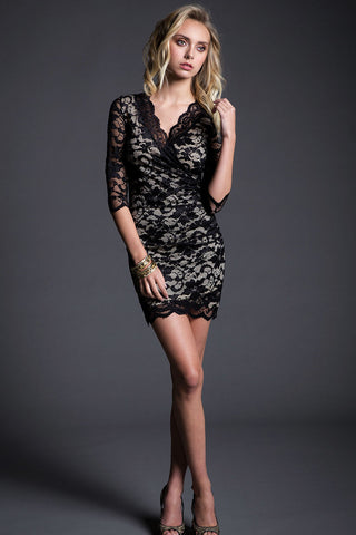 Wrap Bodycon Club Dress