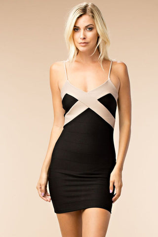 Criss Cross Open Neck Dress
