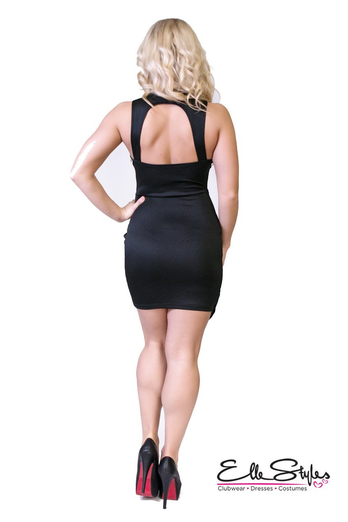 Wrap Bodycon Club Dress ElleStyles