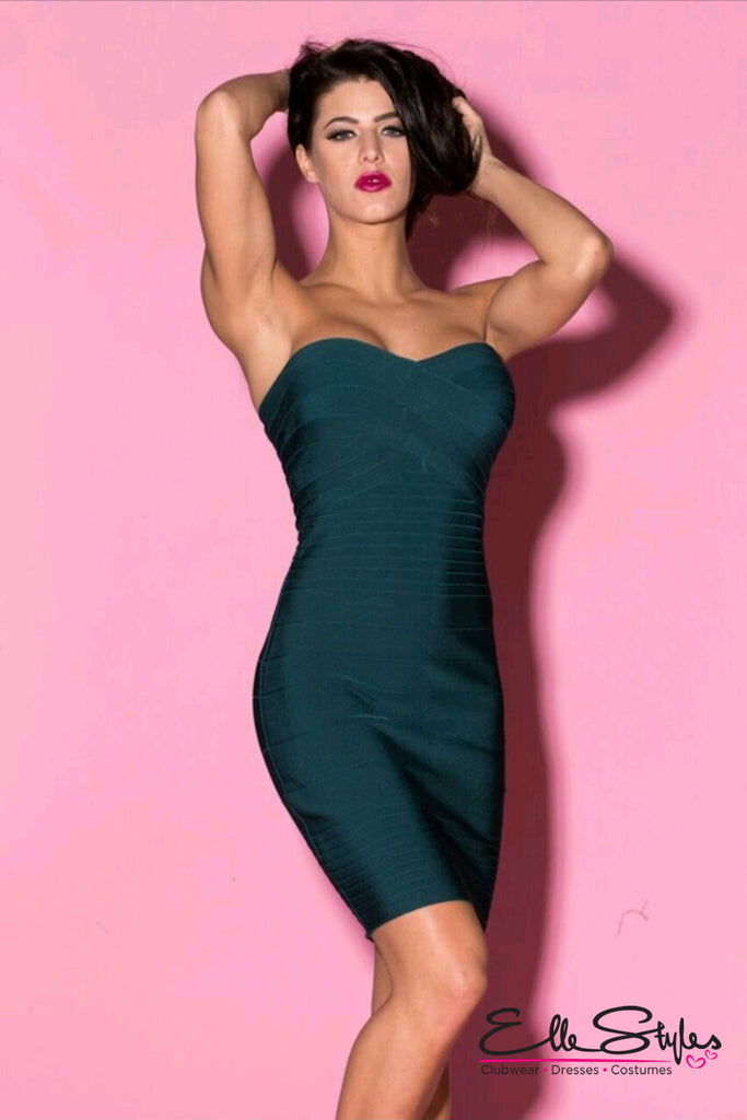 Elegant Strapless Bandage Dress