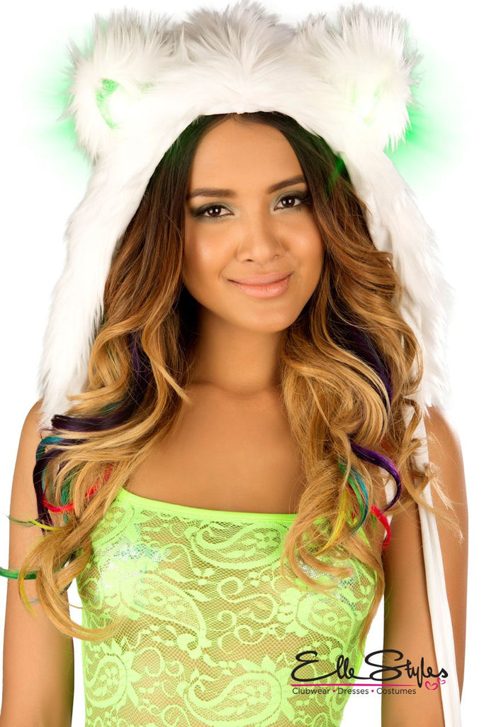 Faux Fur Light-Up Hood ElleStyles