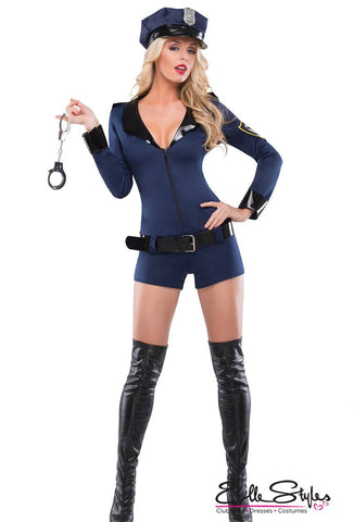 Sex Cop Blue Black Costume