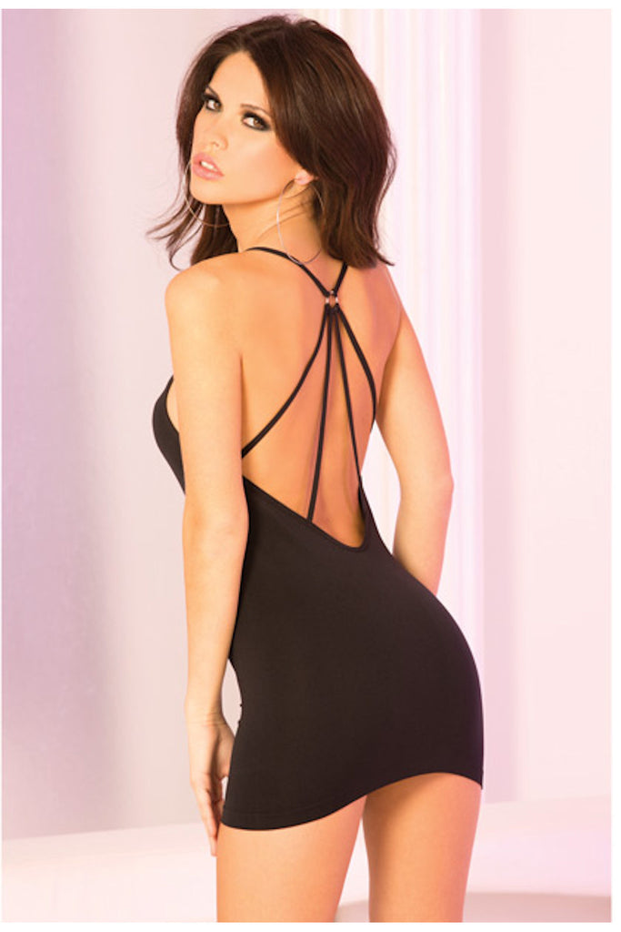 Spider Back Seamless Mini Dress