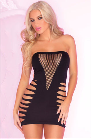 Backside Babe Fishnet Dress