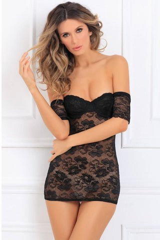 Vivace Lace Halter Mini Dress