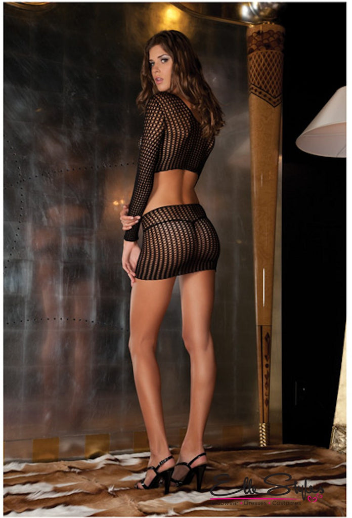 Crochet-Net Bodystocking