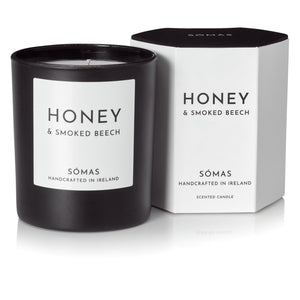 Honey & Smoked Beech Luxury Candle - Sómas
