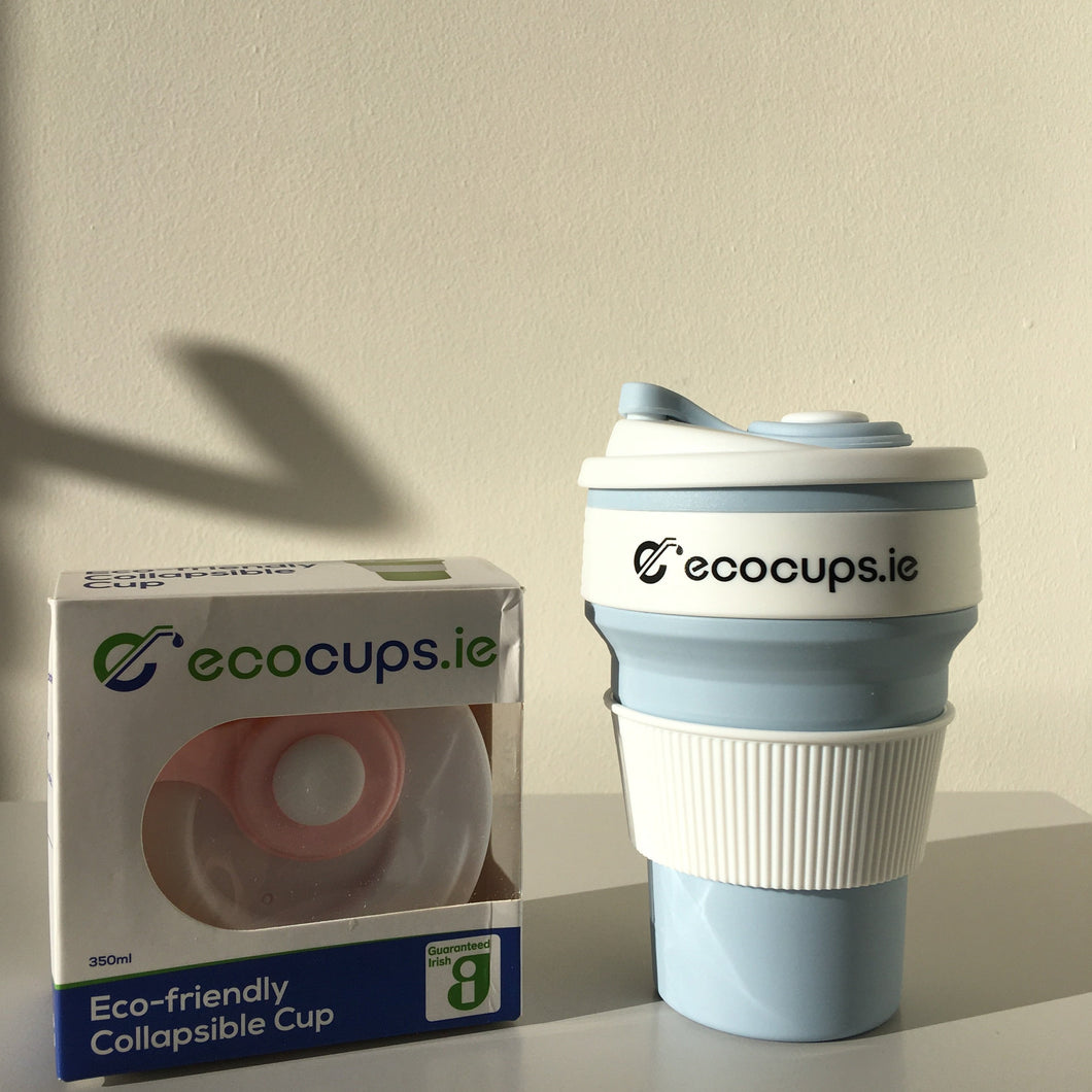 Pastel Blue Collapsible Reusable Cup - Ecostraws