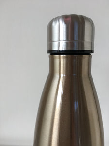 Gold Reusable Stainless Steel Bottle 500ml - Ecostraws