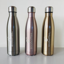 Load image into Gallery viewer, Gold Reusable Stainless Steel Bottle 500ml - Ecostraws