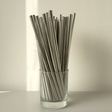 Load image into Gallery viewer, Silver Stainless Steel Reusable Smoothie Straw - Ecostraws