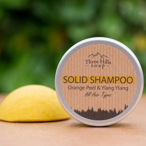 Orange Peel & Ylang Ylang Solid Shampoo - Three Hills Soap