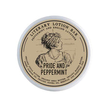 Load image into Gallery viewer, Pride And Peppermint Lotion Bar - Literary Lip Balms