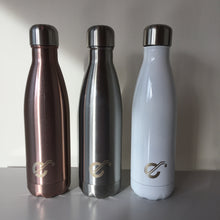 Load image into Gallery viewer, Glossy White Stainless Steel Reusable Bottle 500ml - Ecostraws