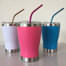 Load image into Gallery viewer, White Stainless Steel Thermal Reusable Cup - Ecostraws