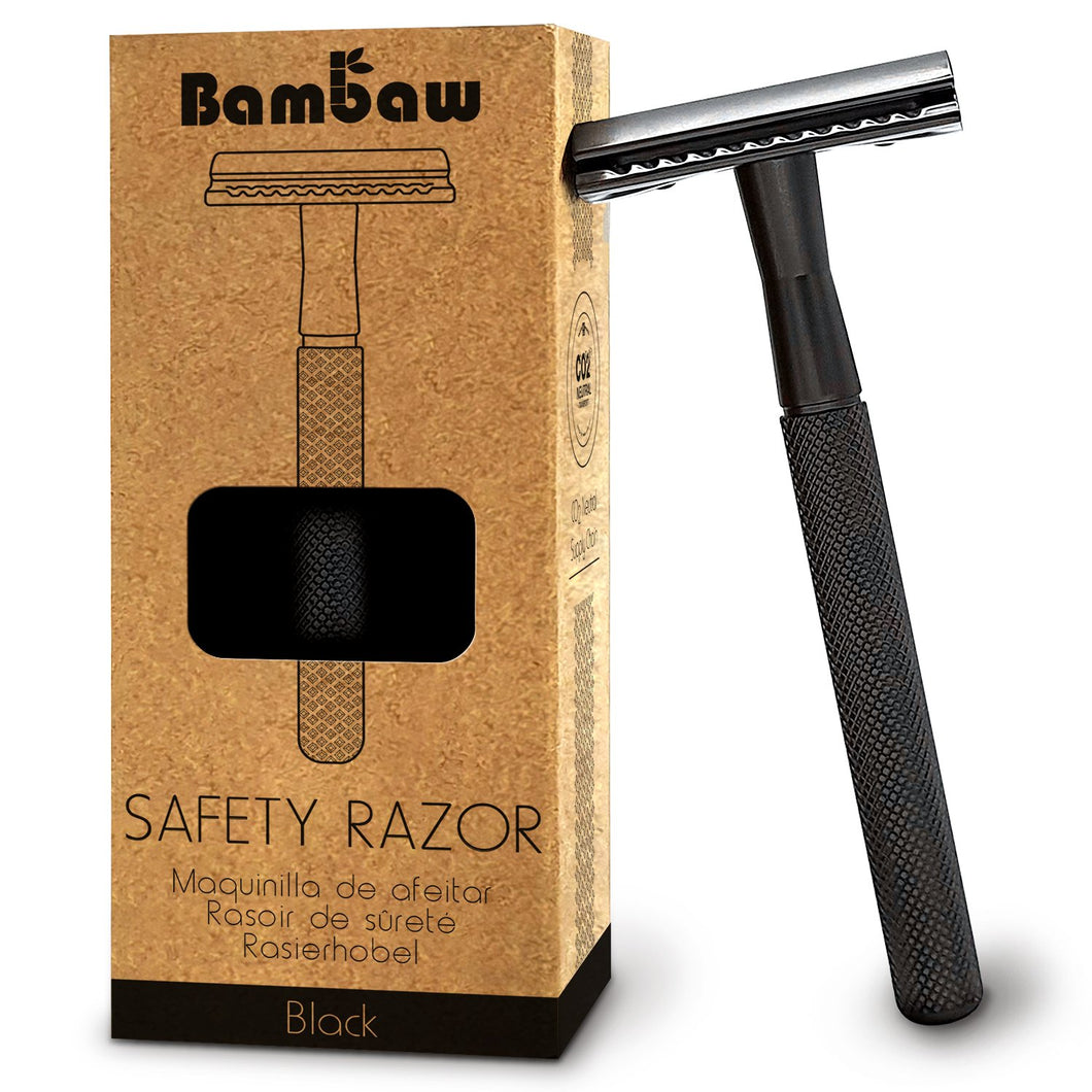 Black Metal Safety Razor - Bambaw