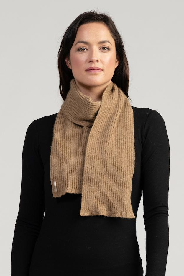 Fine Ribbed Scarf - Danny's Knitwear