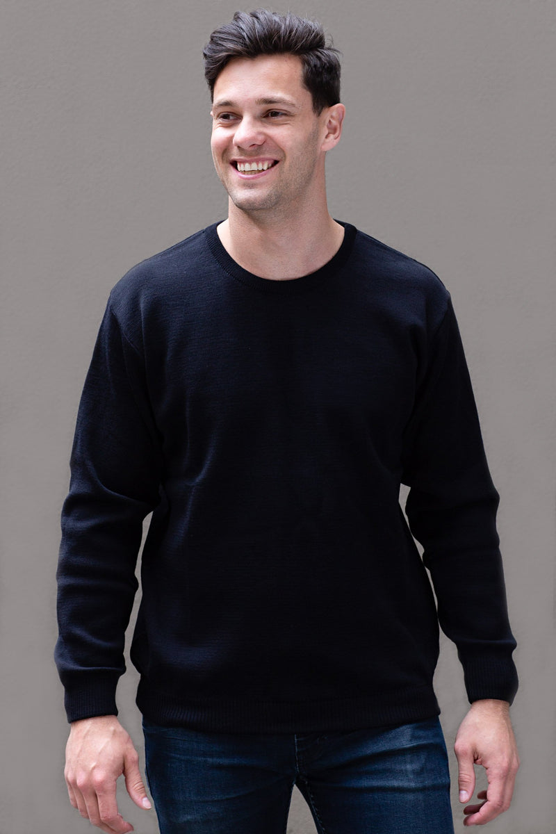 Mid-Weight Crew Neck Jumper - Danny's Knitwear