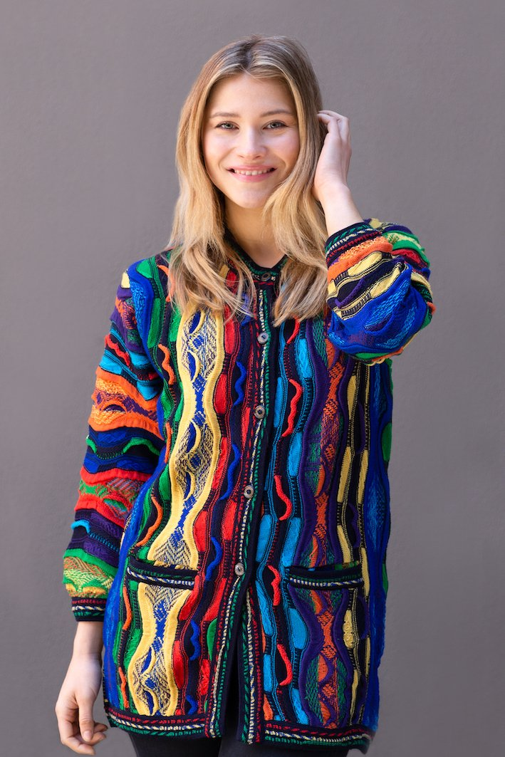Lady's Cardigan Multicolour - Danny's Knitwear