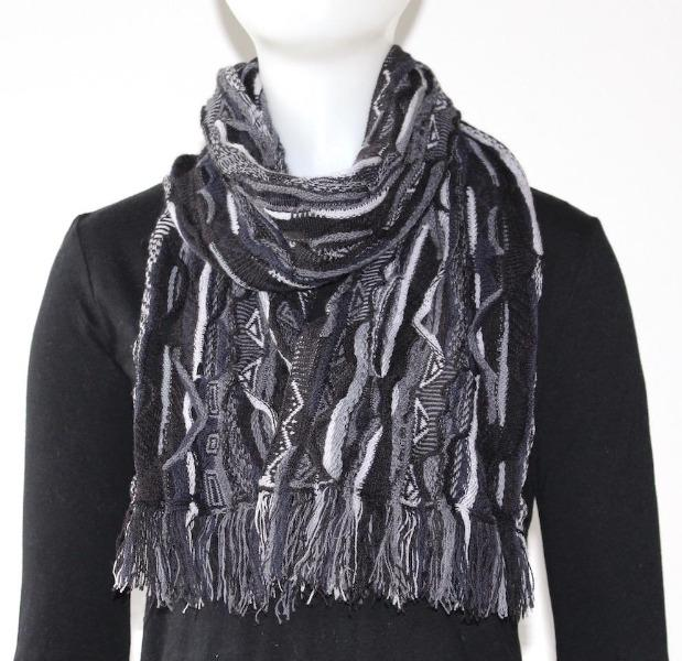 Multicoloured Scarf - Black - Danny's Knitwear