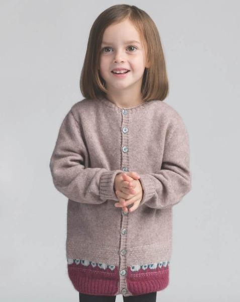 Kids Sheep Cardigan - Wistful - Danny's Knitwear