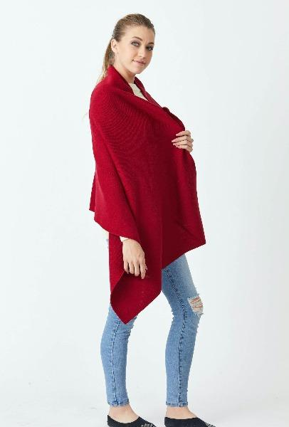 Merino Solid Wrap - Red - Danny's Knitwear
