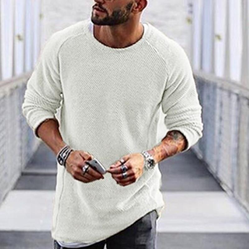Men's T-shirt round neck long sleeve base sweater