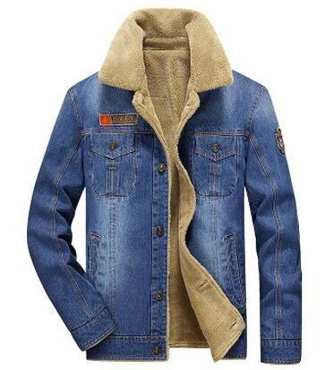 M-6XL men jacket and coats brand clothing denim jacket Fashion mens jeans jacket