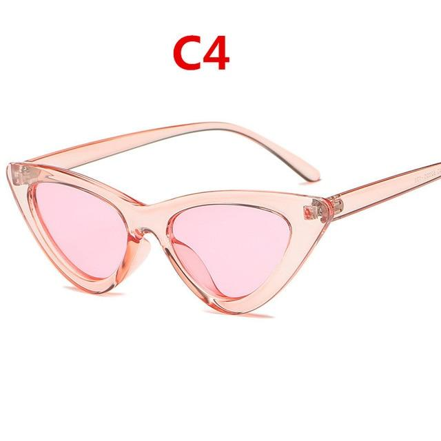 Vintage Retro Triangular Cat Eye Glasses