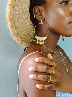 Alia Brass Earrings