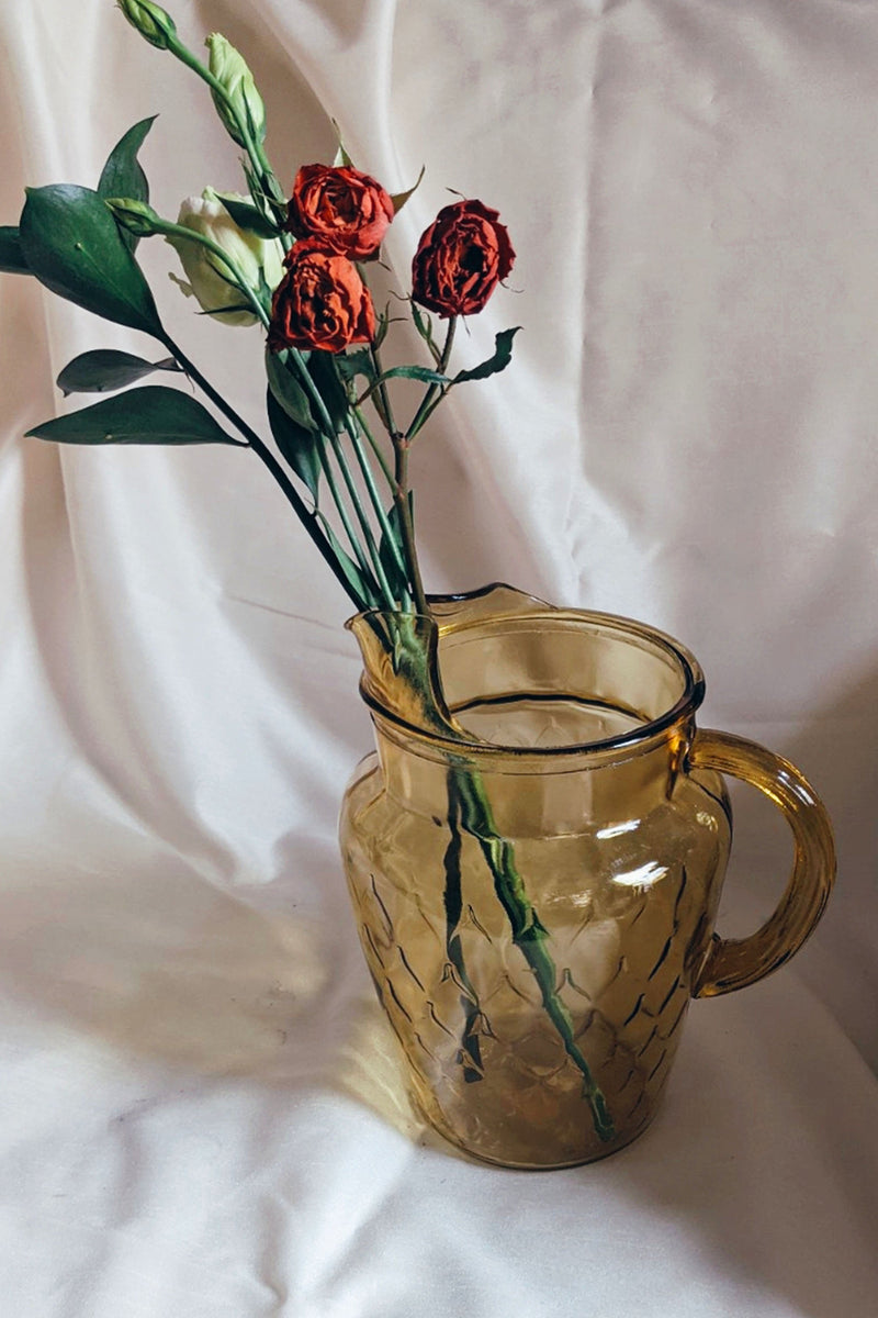 Amber Glass Pitcher