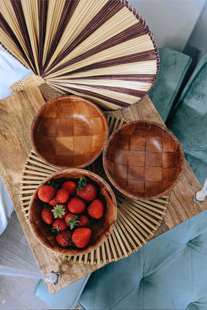 Vintage Formosa Wooden Small Bowls