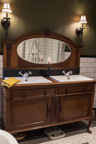 Vintage upcycled double vanity
