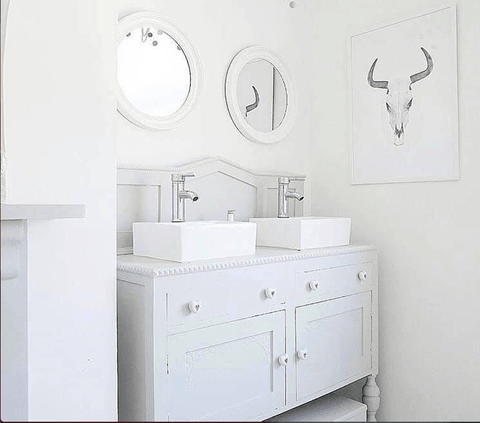 upcycled vanity by a Fresh lick furniture