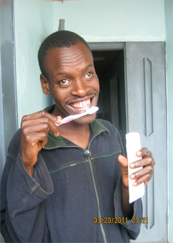 Cleure Giving Back, Africa Man Toothpaste