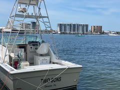 Two Son's boat delivering to Harbor Docks Seafood Market and Gulf To Table