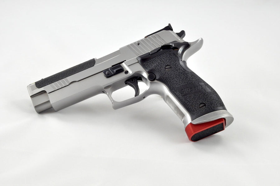 Armanov Base Pad on a Sig Sauer Pistol