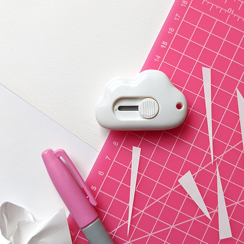 Cloud Paper Cutter | The Naked Desk
