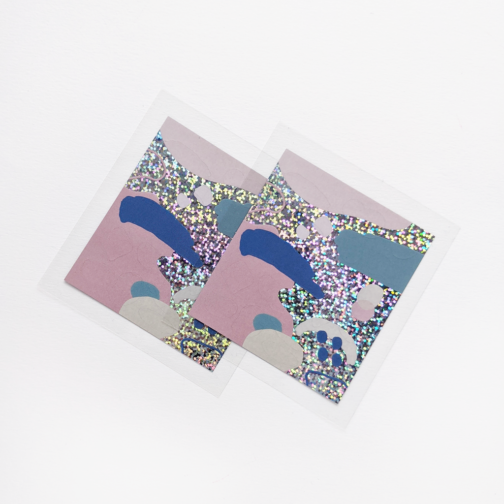 Abstract Glitter Sticker Sheets | The Naked Desk