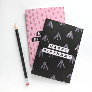 Happy Birthday Painted Lines Greeting Card | The Naked Desk | Joy Jen Studio