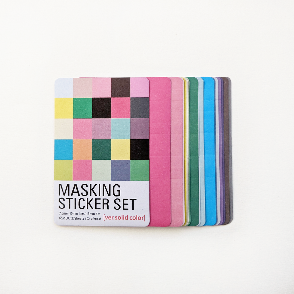 Colourful Paper Masking Tape Set
