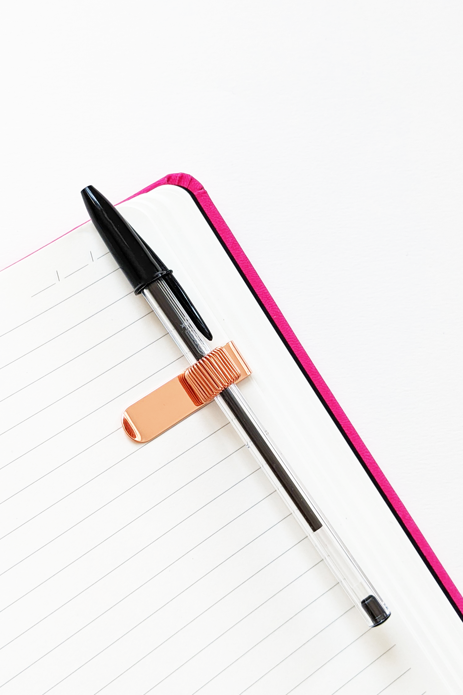 Rose Gold Pen Holder With Clip Editorial