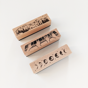 Chunky wood block stamps