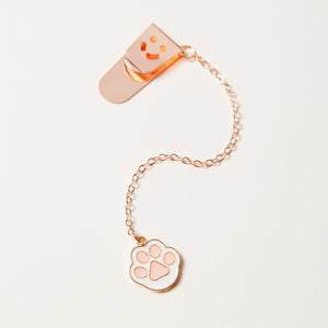 Enamel cat paw charm bookmark full image