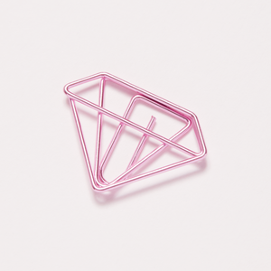 Gem shaped pink paper clip